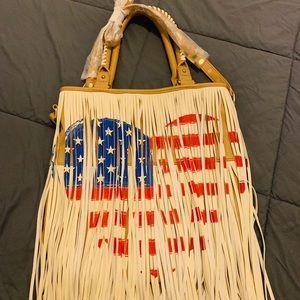 Steve Madden 'American Flag' Fringe Tote